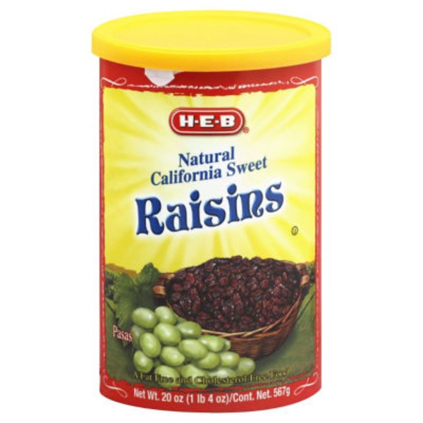 H-E-B Natural California Sweet Raisins