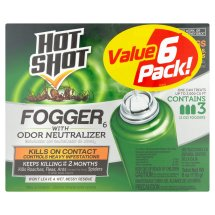 Hot Shot Fogger with Odor Neutralizer, 2oz, 3ct, (2pack)