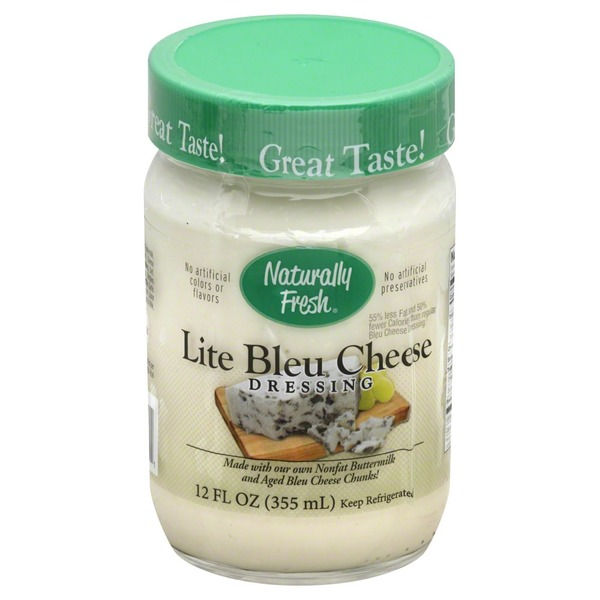 Naturally Fresh Dressing, Lite Bleau Cheese, Jar