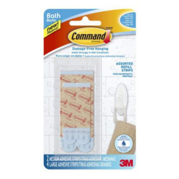 3M Command Assorted Water Resistant Refill Strips