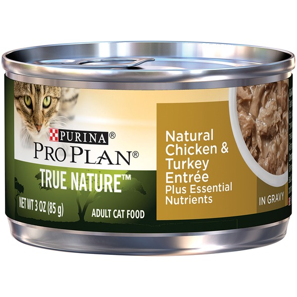 Pro Plan Cat Wet True Nature Adult Natural Chicken & Turkey Entree in Gravy Cat Food