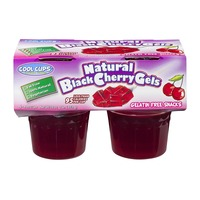 Cool Cups Gelatin Free Snacks Natural Black Cherry Gels - 4 CT
