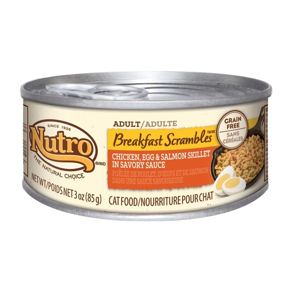 Nutro Breakfast Scrambles Adult Chicken Egg & Salmon Skillet in Savory Sauce Cat Food