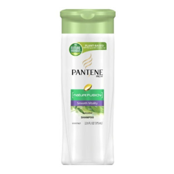 Pantene Smooth Pantene Pro-V Nature Fusion Smoothing Shampoo with Avocado Oil 12.6 fl oz Female Hair Care