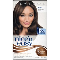 Clairol Nice 'N Easy Permanent Hair Color 4 Natural Dark Brown 1 Kit Female Hair Color
