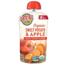 Earth's Best Stage 2 Second Foods Sweet Potato Apple Baby Food Puree, 4 oz