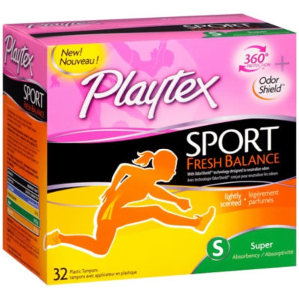 Playtex Sport Fresh Balance Lightly Scented Super Absorbency Tampons