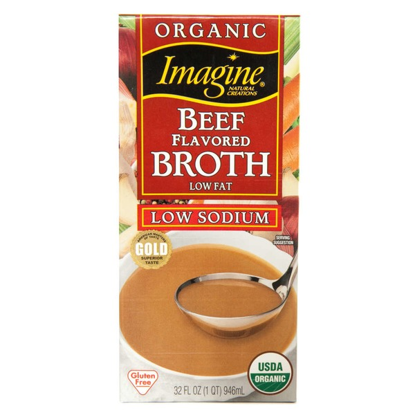 Imagine Foods Organic Low Sodium Beef Flavored Broth