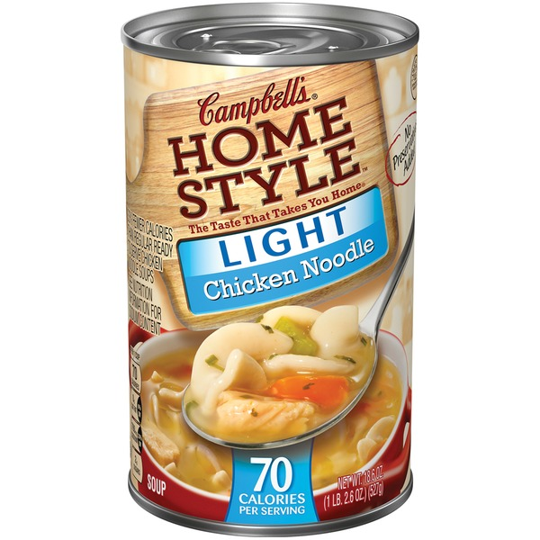 Campbell's Homestyle Light Chicken Noodle RTS Soup