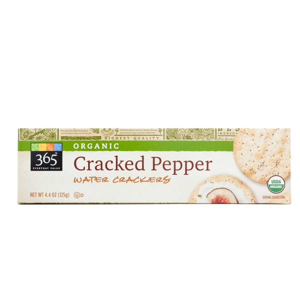 365 Organic Cracked Pepper Water Crackers