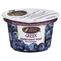 Open Nature Greek Yogurt Strained Nonfat Blueberry