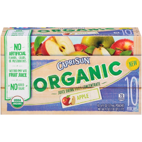 Caprisun Organic Apple Juice Drink