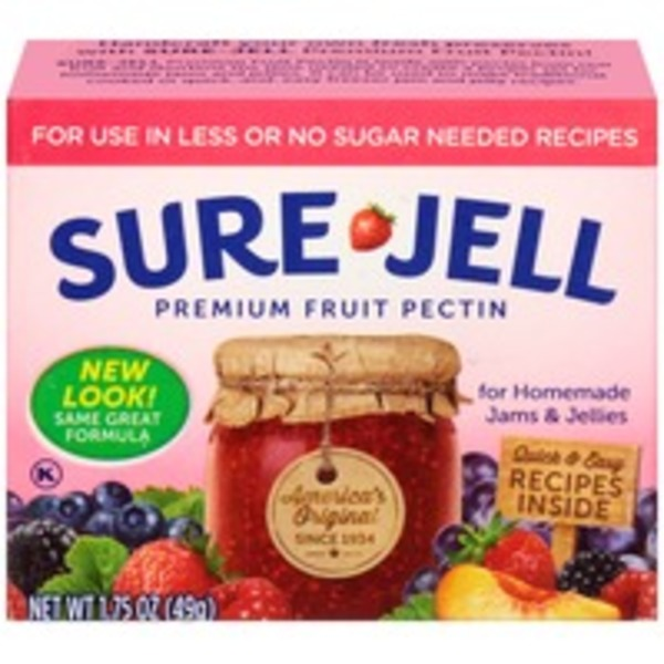 Sure-Jell Premium for Use in Less or No Sugar Needed Recipes Fruit Pectin