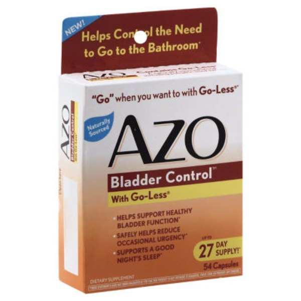 AZO Bladder Control With Go-Less Dietary Supplement Capsules - 54 CT