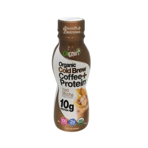 Orgain Organic Cold Brew Coffee Plus Protein Iced Mocha