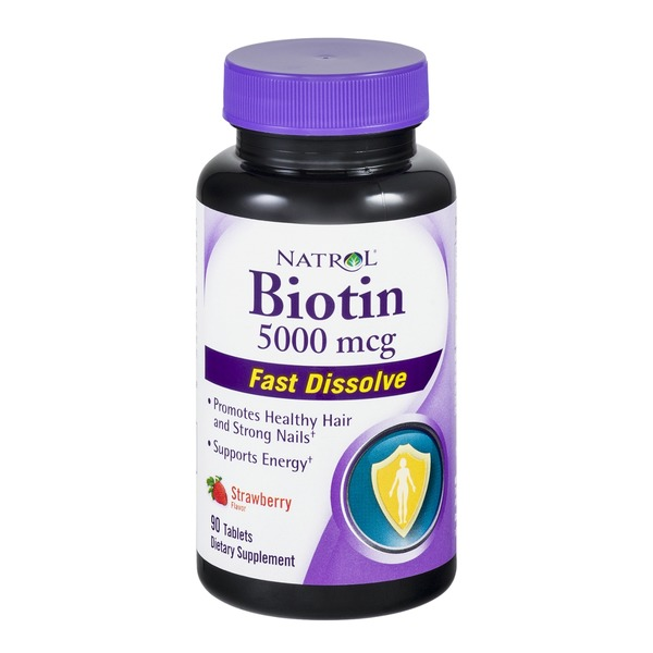 Natrol Biotin 5000mcg Tablets Strawberry Flavor - 90 CT