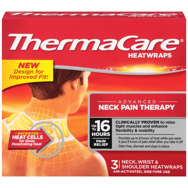 ThermaCare Neck Wrist & Shoulder Pain Therapy Heatwraps