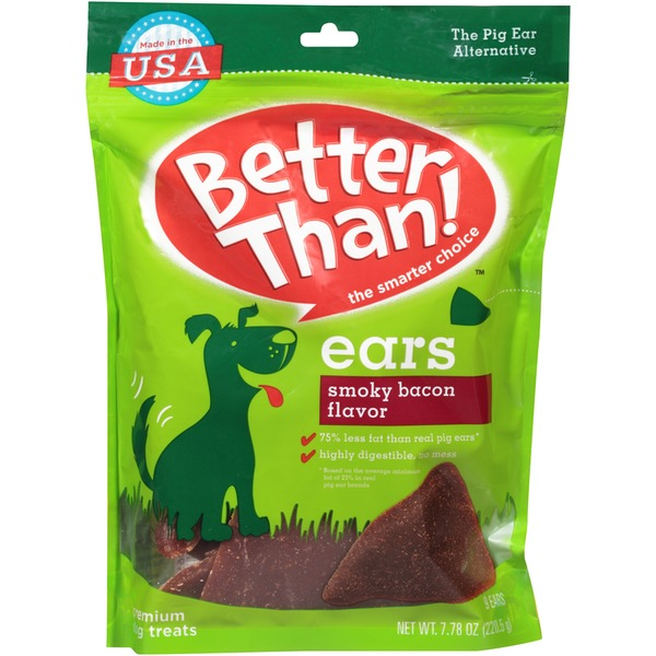Better Than Ears Smoky Bacon Flavor Premium Dog Treats