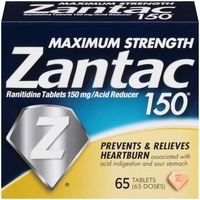 Zantac Maximum Strength 150mg Tablets Acid Reducer
