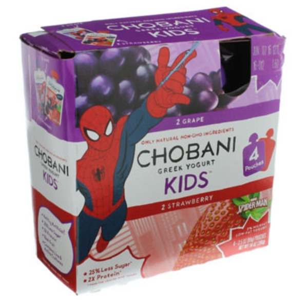 Chobani Kids Grape/Strawberry Low-Fat Greek Yogurt