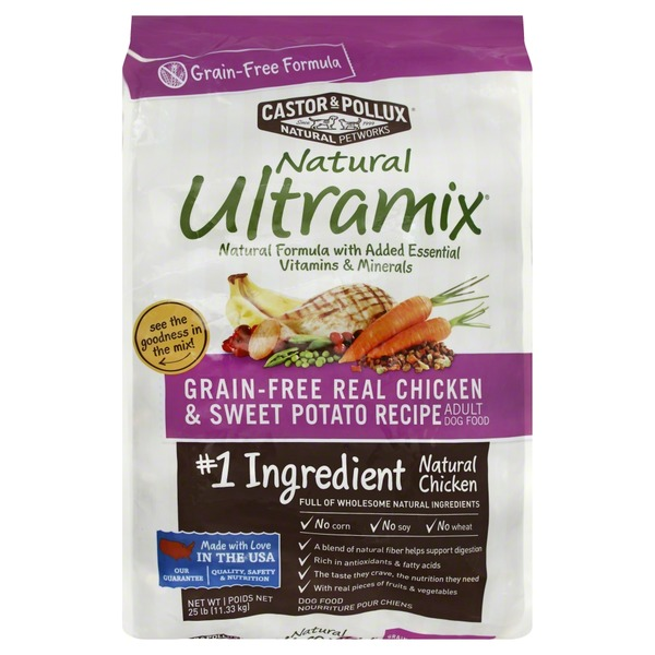 Natural Ultramix Dog Food, Adult, Grain-Free, Real Chicken & Sweet Potato Recipe