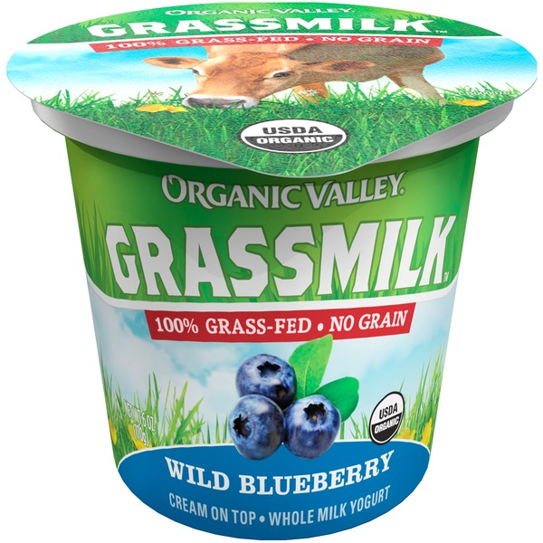 Organic Valley Grassmilk Organic Whole Milk Wild Blueberry Yogurt