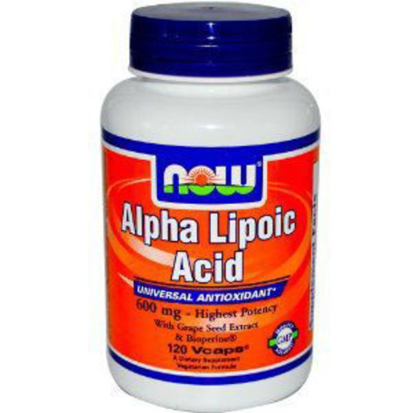 Now 600 mg Alpha Lipoic Acid Free Radical Scavenger