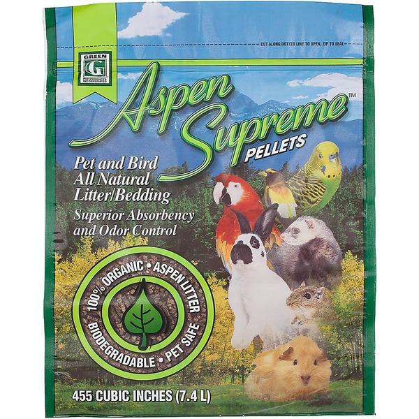 Green Pet Aspen Supreme Pellets Pet & Bird All Natural Litter & Bedding 7.4 Liters