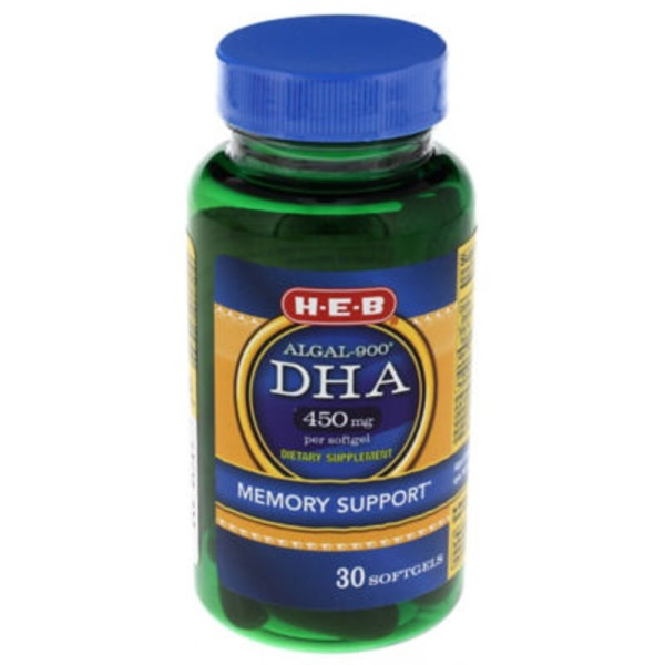 H-E-B Algal 900 Dha Memory Support Softgels 450 Mg