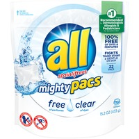 All Mighty Pacs Free Clear 22 Loads Laundry Detergent