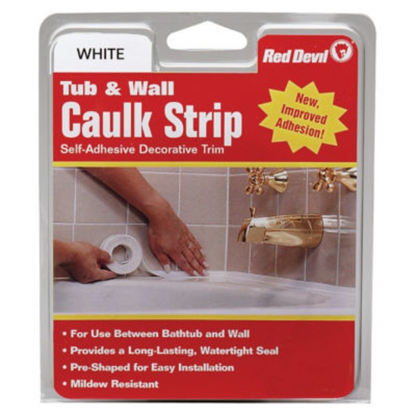 Red Devil Tub & Wall Caulk Strip 7/8 X 11 White