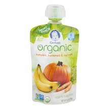 Gerber Organic 2nd Foods Baby Food, Pumpkin, Bananas & Carrots, 3.5 oz Pouch