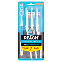 Reach Advanced Design Firm Toothbrushes Value Pack, 7 count