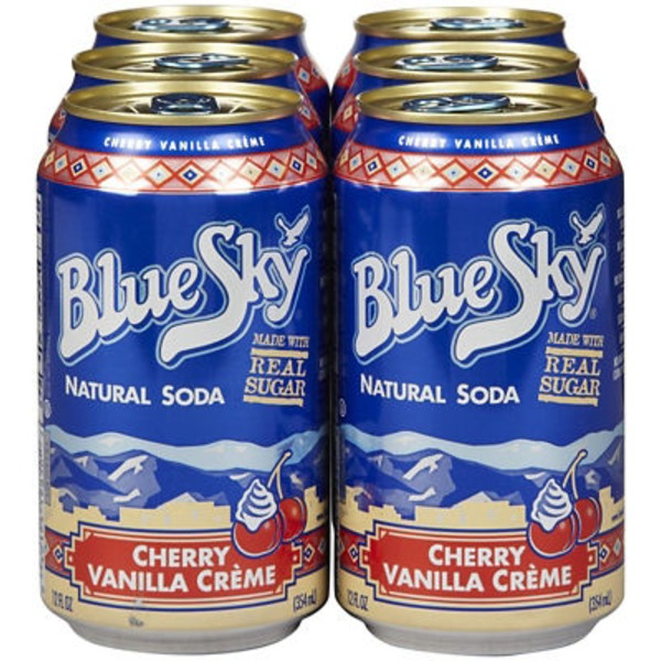 Blue Sky Natural Soda Cherry Vanilla Creme