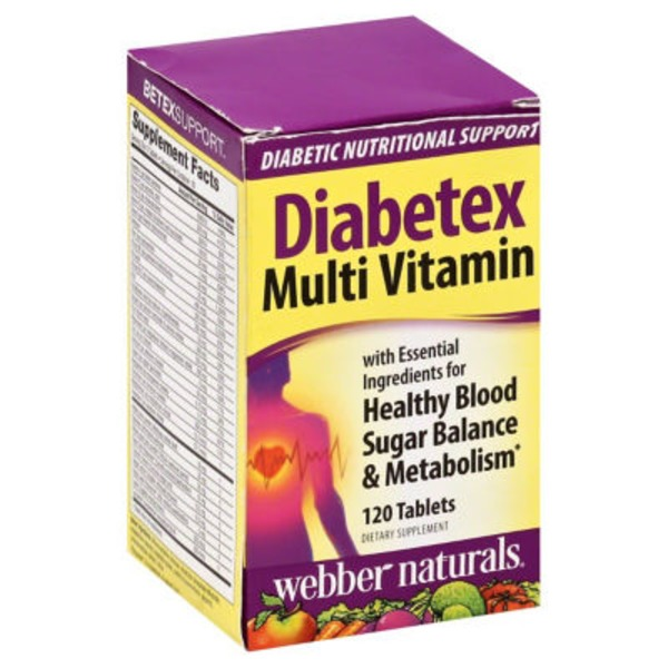 Webber Naturals Diabetex Multi Vitamin Tablets