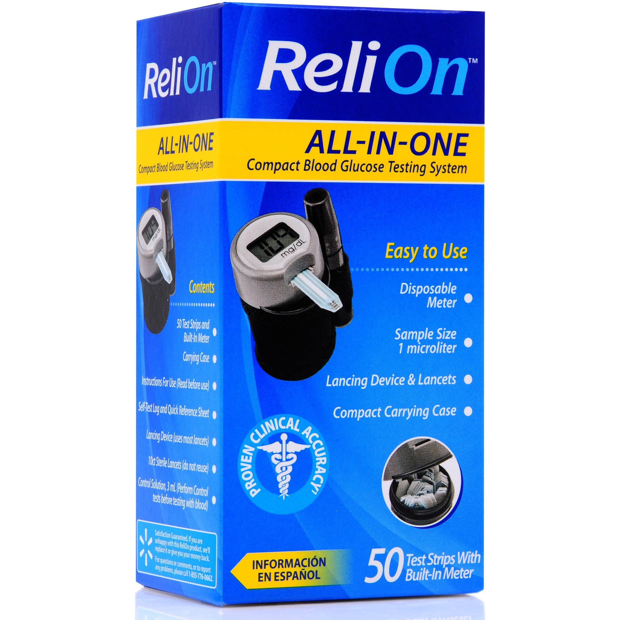 Reli On All In One Compact Blood Glucose Testing System