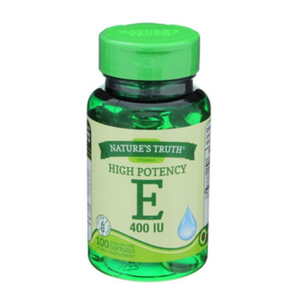 Nature's Truth Organic Vitamin E 400 Iu With Natural D Alpha Softgels