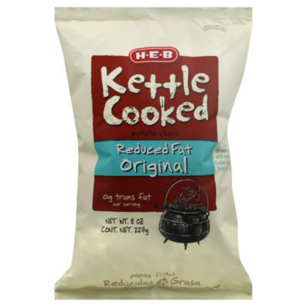 H-E-B Reduced Fat Original Kettle Cooked Potato Chips