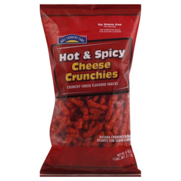 Hill Country Fare Hot & Spicy Cheese Crunchies