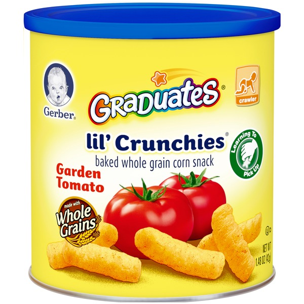 Gerber Graduates Lil' Crunchies Garden Tomato Whole Grain Corn Baked Snack
