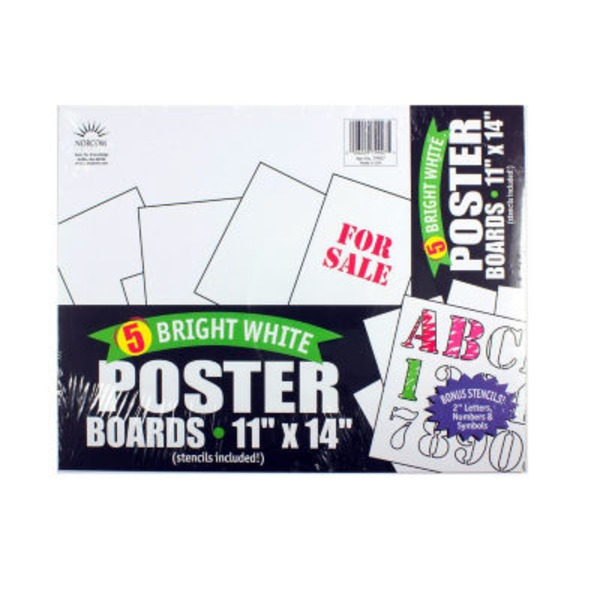 Norcom Bright White Poster Boards