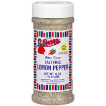 Fiesta Brand Lemon Pepper (Salt-Free), 6 oz jar