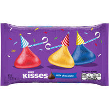 Kisses Birthday Milk Chocolates Candy Red Yellow Blue