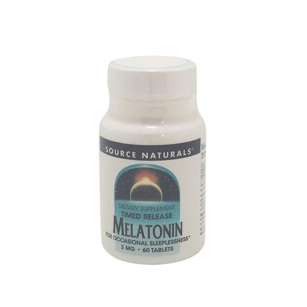 Source Naturals Timed Release Melatonin 3 mg Tablets