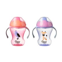 Tommee Tippee Infant Trainer Sippee Cup, 7+ months – 8oz, 2pk (Colors May Vary)