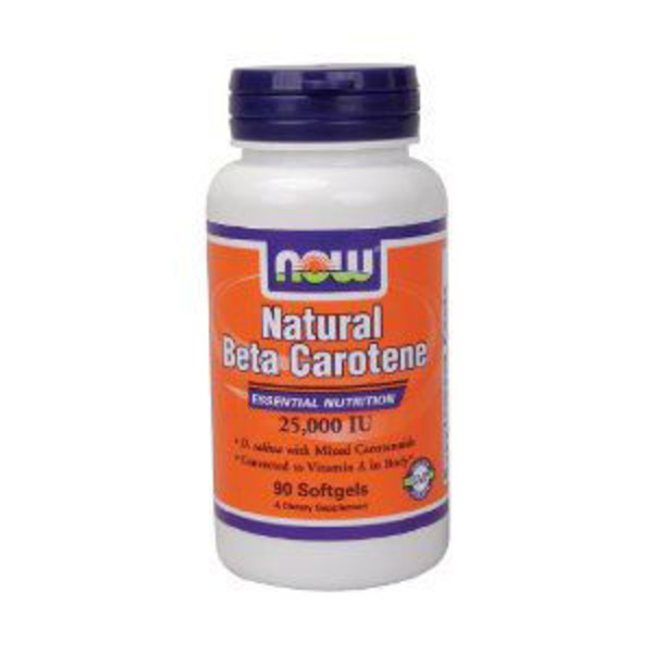 Now Nat Beta Carotene 25000 Softgels