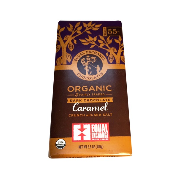 Equal Exchange Organic Dark Chocolate Caramel Crunch with Sea Salt Bar