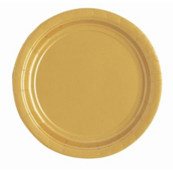 Unique Gold 9 Inch Plate