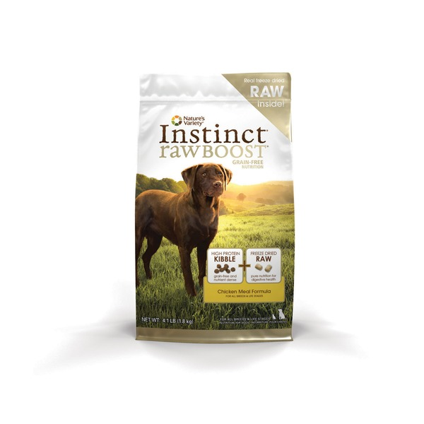 Nature's Variety Instinct Rawboost Grain Free Chicken Meal Formula Dry Dog Food
