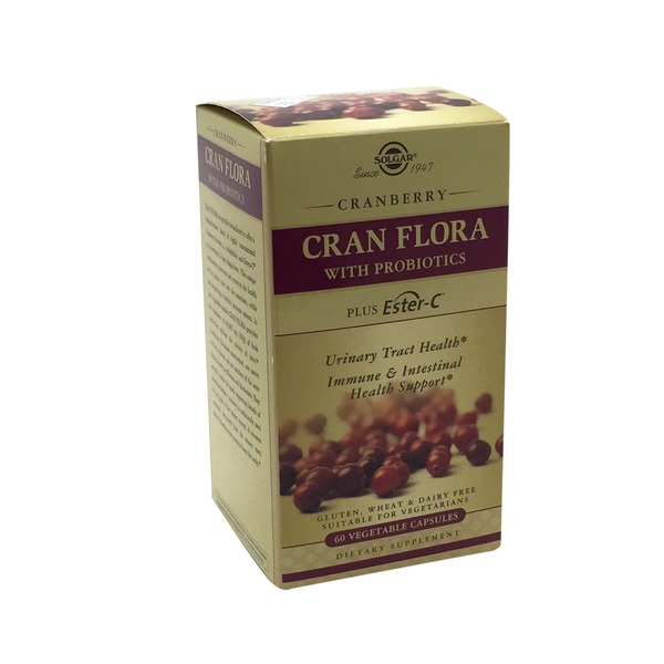 Solgar Cran Flora with Probiotics Plus Ester C